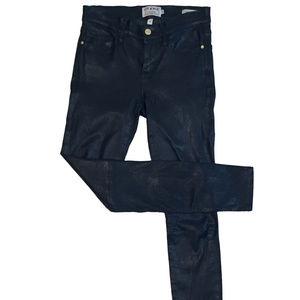 "FRAME Black Leather ""Le Skinny"" Jeans Size 26"